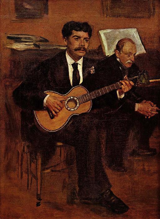 Lorenzo Pagans és Auguste de Gas, Edgar Degas
