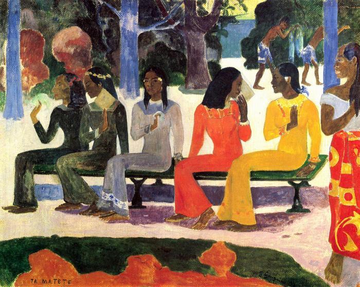 Ta Matete (A piacon), 1892, Paul Gauguin