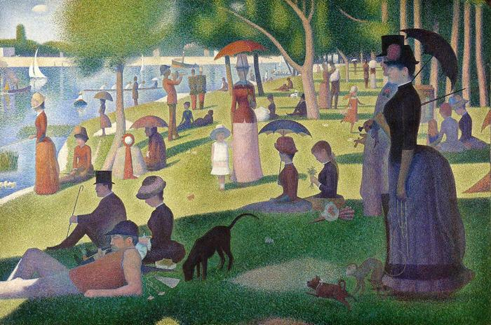Vasárnap délután Grande Jatte szigetén (1884-1886), Georges Seurat