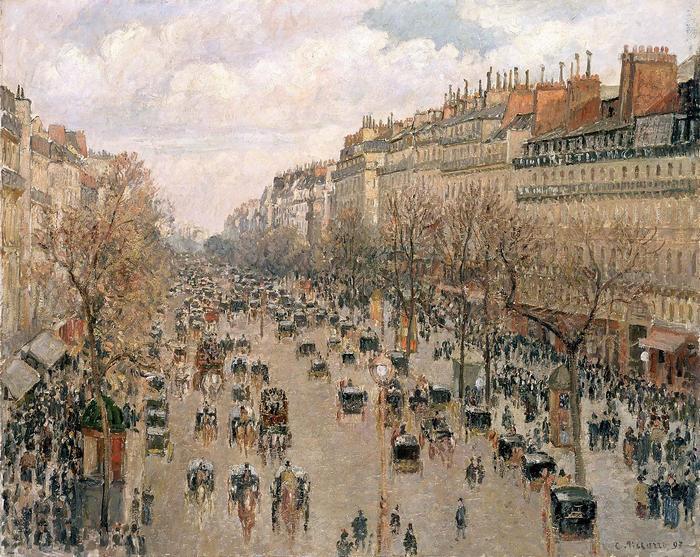 A Montmartre sugárút nyáron, Camille Pissarro