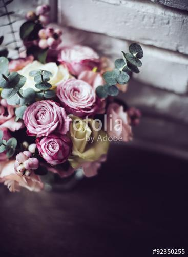 bouquet of pink and white roses, Premium Kollekció