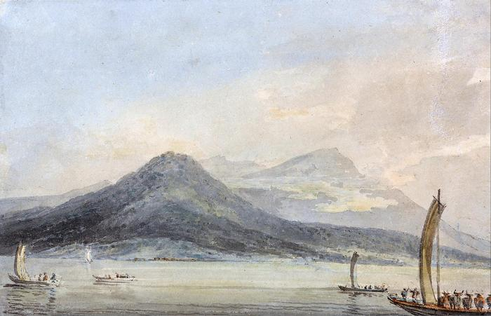 Lago Maggiore, Borromei szigetekről nézve (színverzió 1), William Turner