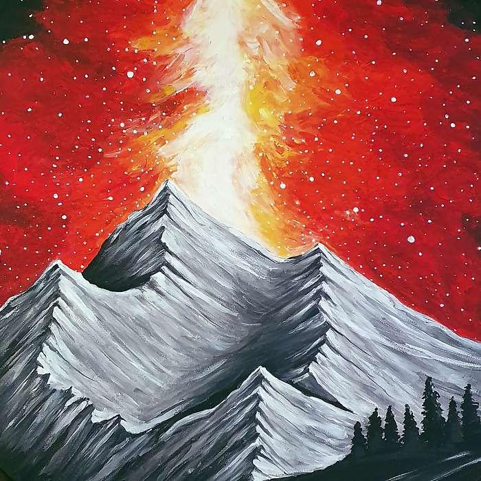 Éjszakai fény hegyek közt részlet, Partner Kollekció