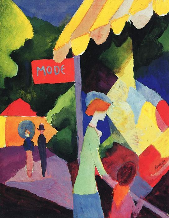 A divatüzlet kirakatánál, August Macke