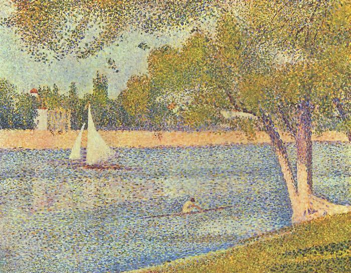 A Szajna a Grande Jatte szigeténél, Georges Seurat