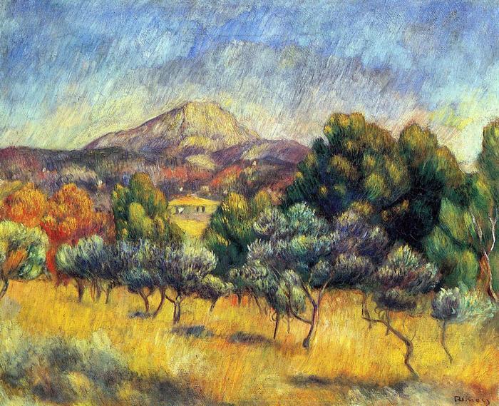 A Sainte- Victoire hegy, Pierre Auguste Renoir