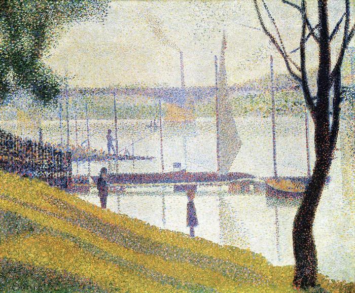 Courbevoie-i híd (1886-87), Georges Seurat