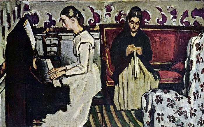 Lány a zongoránál, Paul Cézanne