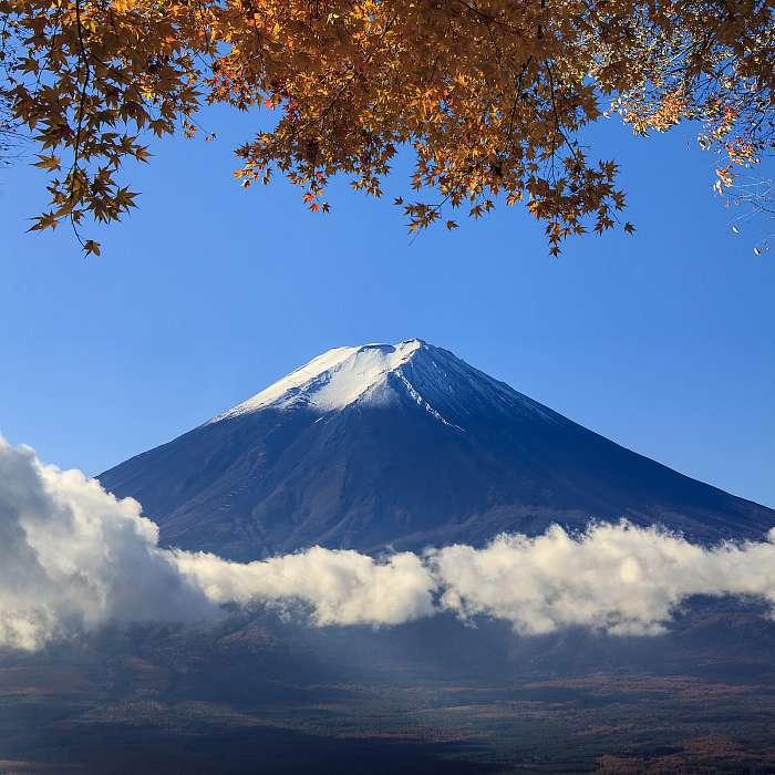 A Fuji szent hegy Japánban a háttérben, Premium Kollekció