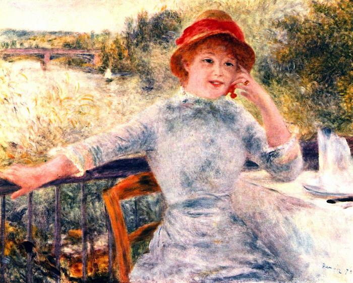 Alphonsine Fournaise portréja, Pierre Auguste Renoir