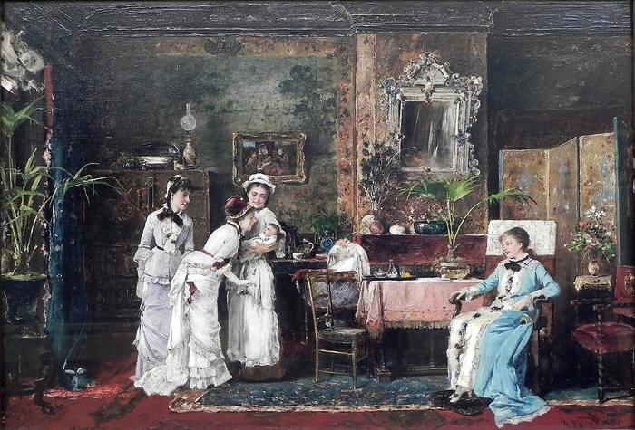 A baba látogatói, Munkácsy Mihály