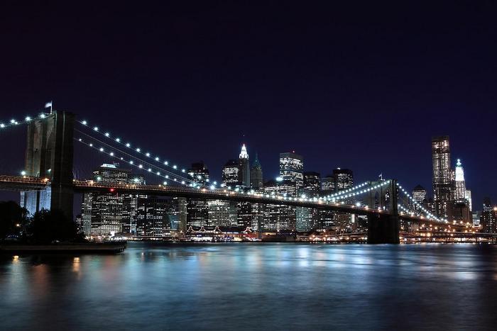 A Brooklyn híd este,