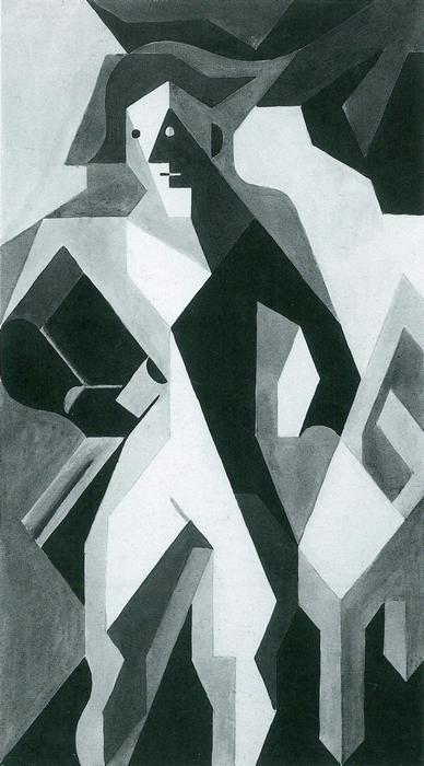 Harlekin székkel, Juan Gris