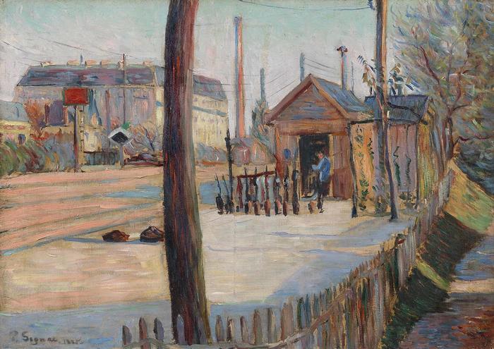 Vasúti csomópont Bois-Colombes közelében (1885), Paul Signac