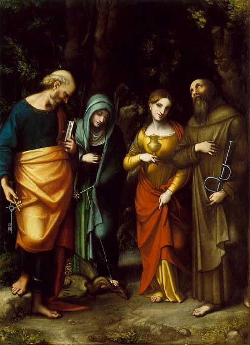 Bibliai jelenet, Szent Péterrel, Mária Magdalénával, Correggio, Antoni