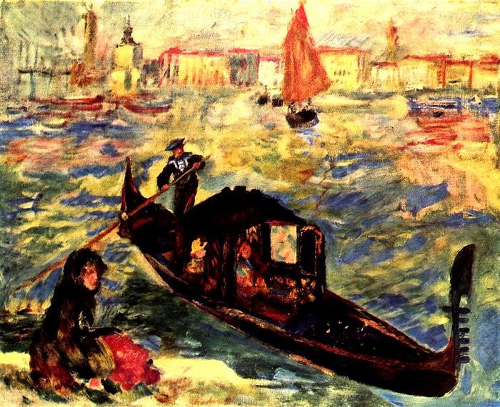Gondola a Grand Canale-n, Pierre Auguste Renoir