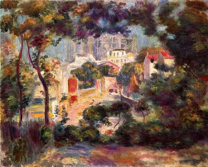 Tájkép, háttérben a Sacre Coeur, Pierre Auguste Renoir