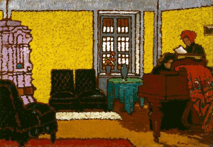 Sárga zongoraszoba II., (1909), Rippl Rónai József