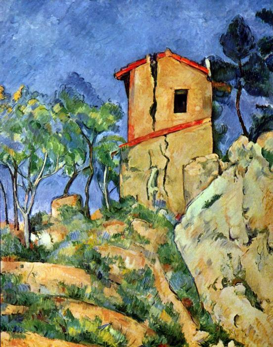 Ház a sziklán, Paul Cézanne