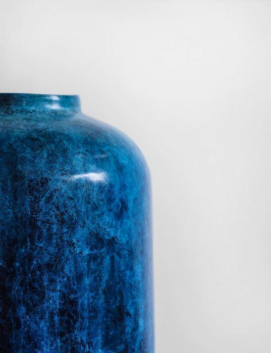 Kék váza - minimalista,