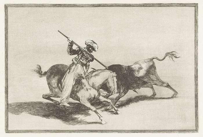 Gazul, az első igazi torreádor (színverzió 1), Francisco José de Goya