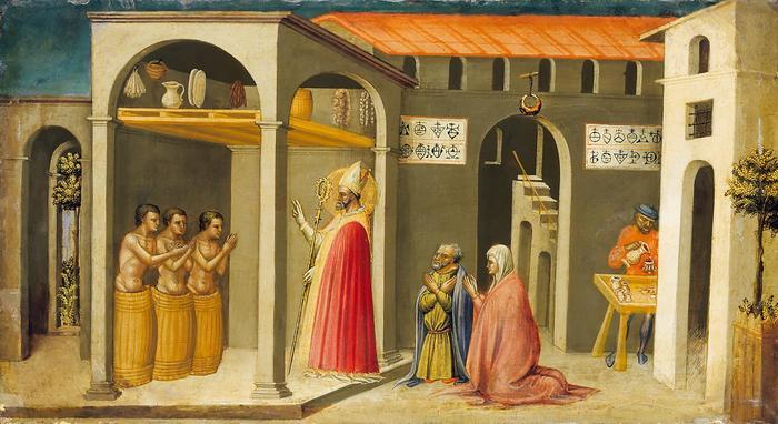 Szent Miklós feltámasztja a három gyermeket, Bicci di Lorenzo