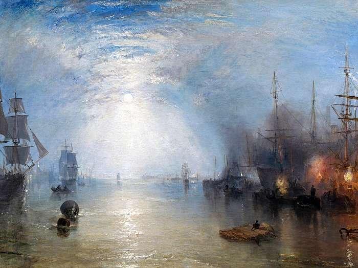 Kikötő holdfényben (színverzió 1.), William Turner