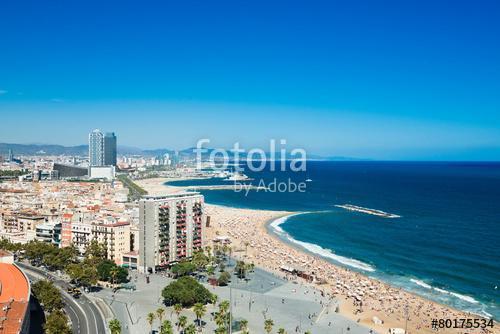 Barceloneta beach in Barcelona, Spain, Premium Kollekció