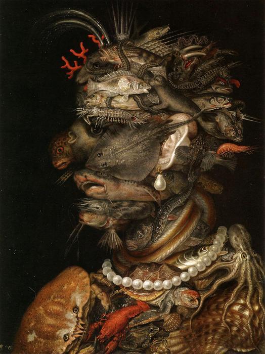 Víz, allegorikus portré, Giuseppe Arcimboldo