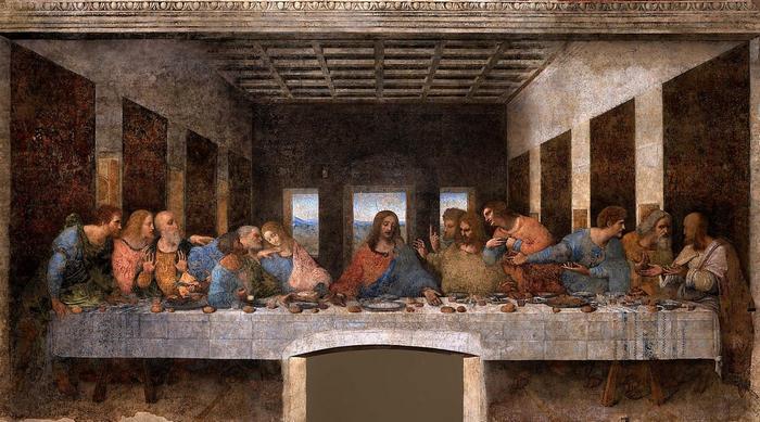 Az utolsó vacsora (sötét verzió), Leonardo da Vinci