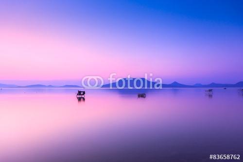 Gyönyörű naplemente a Balaton-ban, Premium Kollekció