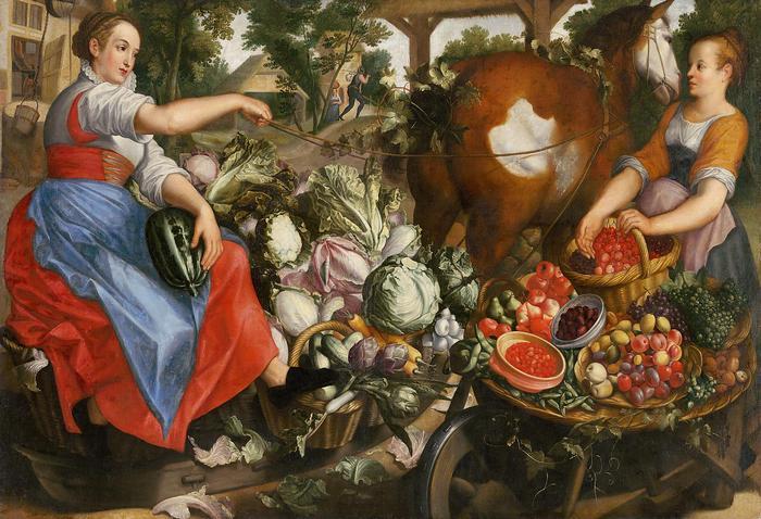 Zöldséget áruló nő, Joachim Beuckelaer