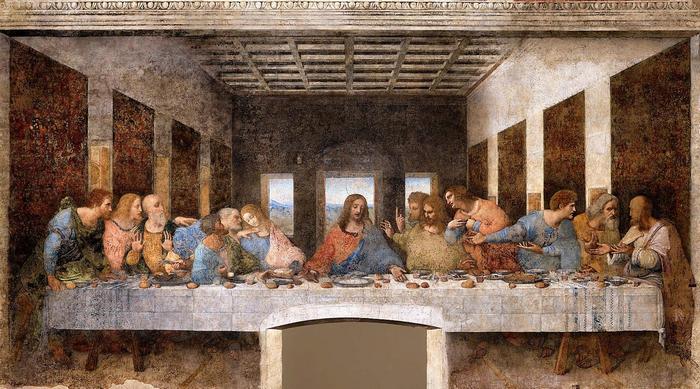 Az utolsó vacsora (világos verzió), Leonardo da Vinci