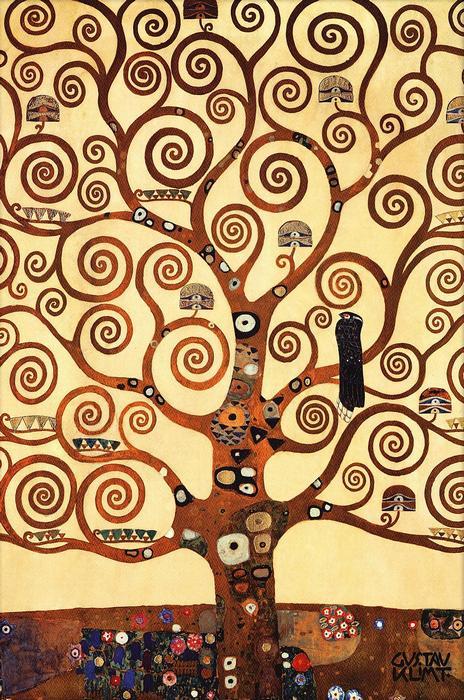 Az élet fája feldolgozás (részlet), Gustav Klimt