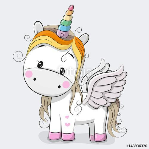 Cute Cartoon Unicorn, Premium Kollekció