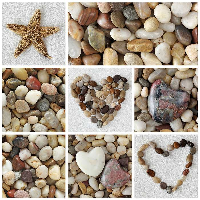 Fényképek kollázsai kövekkel, Premium Kollekció