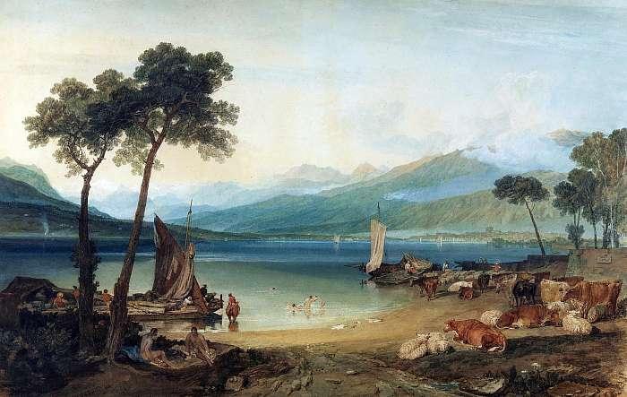 A Genfi-tó és a Mont Blanc (színverzió 1), William Turner