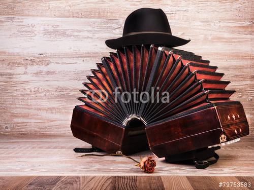 Bandoneon, tangóeszköz és kunyhó, Premium Kollekció