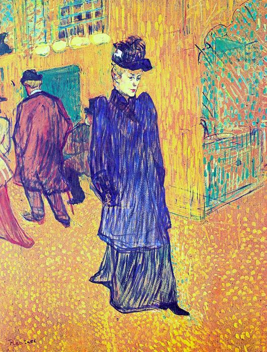 Jane Avril távozása a Moulin Rouge-ból, Henri de Toulouse Lautrec