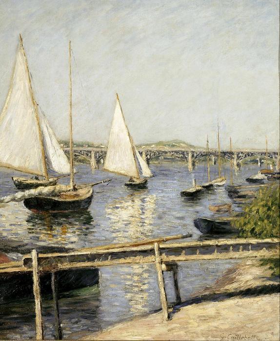 Vitorlások Argenteuil-nál, Gustave Caillebotte