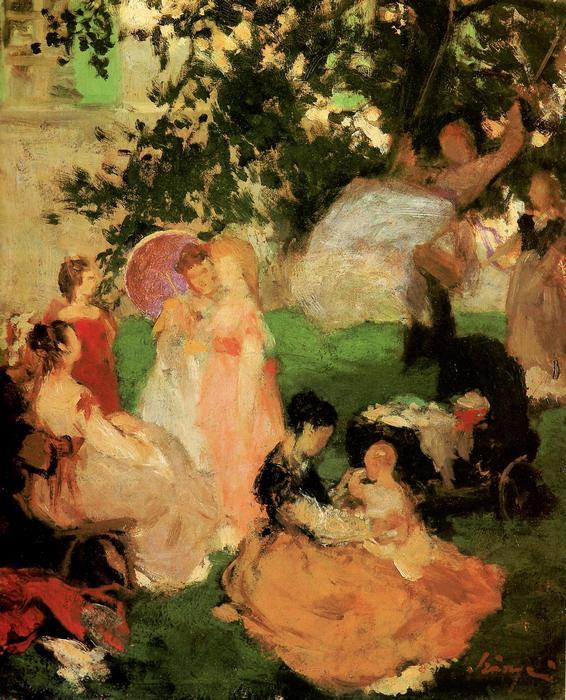 A hinta, 1869, Szinyei Merse Pál