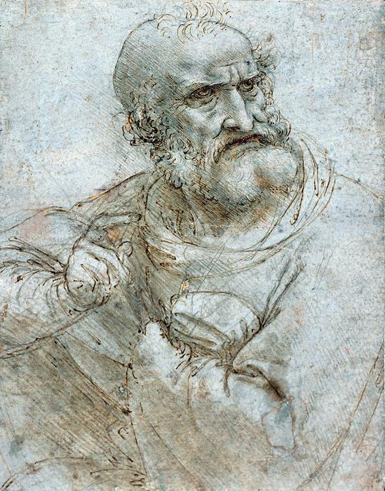 Apostol (színváltozat 1.), Leonardo da Vinci