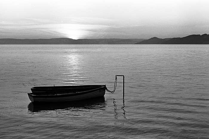 Csónakok naplementében, Szántód (1963), FORTEPAN
