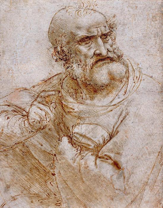 Apostol (színváltozat 2.), Leonardo da Vinci