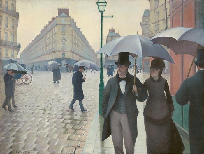 Párizsi utca esős időben, Gustave Caillebotte