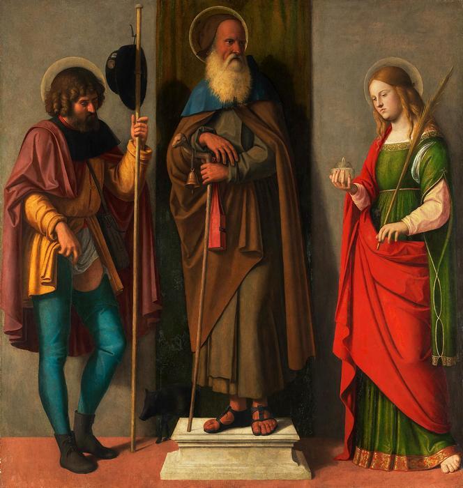 Három szent: Szent Rókus, Szent Antal és Szent Luca, Cima da Conegliano