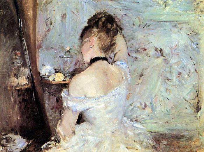 Hölgy a mosdóban, Berthe Morisot