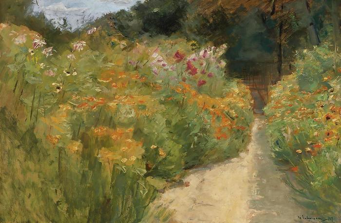 Virágoskert a Wannsee-i kertben, Max Liebermann