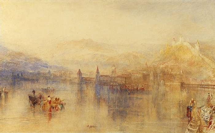 Luzern látképe, William Turner