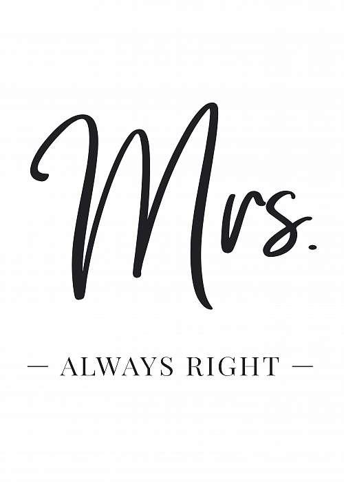Mrs. always Right - dupla kép,